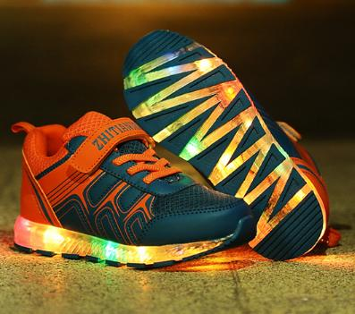 ChildrenS Shoes Light Fashion Sneaker Kids Baby With Usb Charging Led Lighted Shoes Boys/Girls Sports Shoes Colorful Lights<br><br>Aliexpress