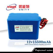 12v 15500mAh capacity 18650 Rechargeable lithium battery pack Power bank - Huizhou unity electronic technology co., LTD store