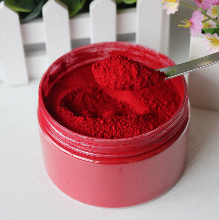 C19-025 Hi-Q Red Lipstick Makeup Powder Pigment Mineral For DIY Free Shipping(China (Mainland))