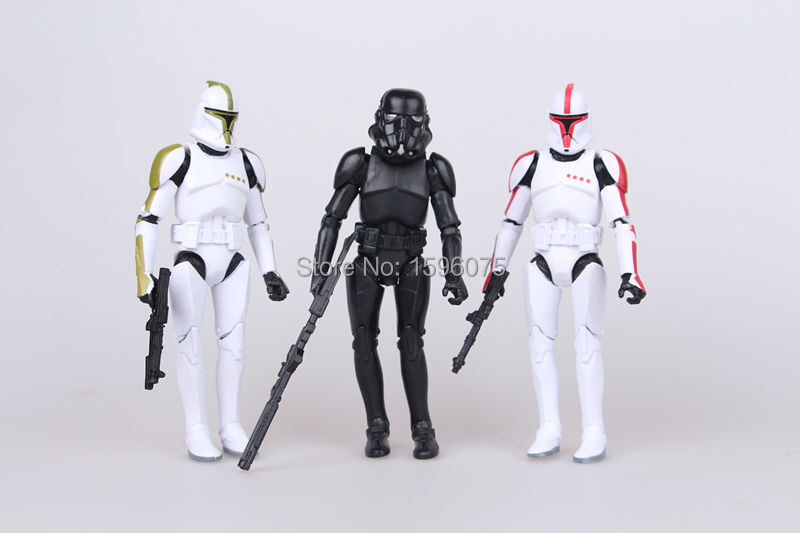 3pcs lot Star Wars toys The Force Awakens Rey Darth Vader BB 8 Action Figure stormtrooper