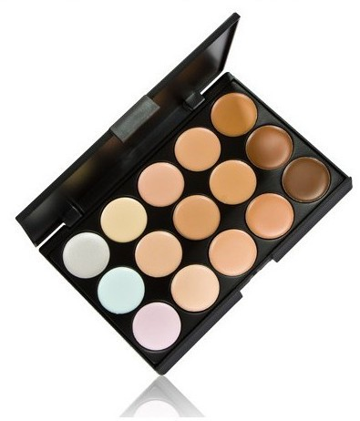 Special Professional 15 Color Concealer 15 colors Facial Face Cream/eyeshadow Care Camouflage Makeup base Palettes Cosmetic(China (Mainland))
