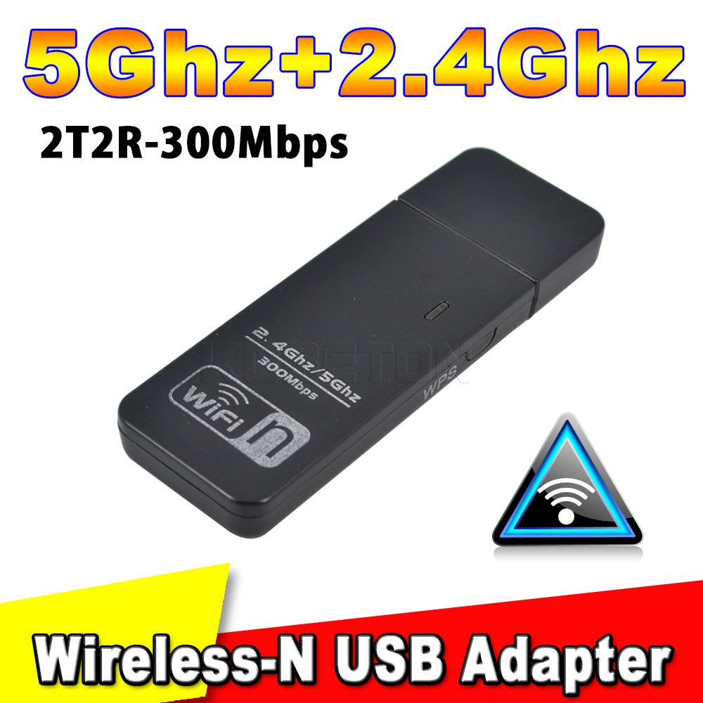 Wireless-N USB WiFi WPS Network Lan Adapter 300Mbps Dual Band 5GHz/2.4GHz Wireless WiFi Signal Booster Antenna Ralink RT5572N(China (Mainland))