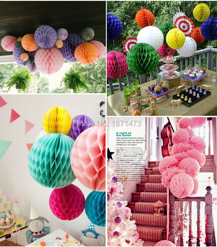 "Tissue Paper Pom-Poms 6"" Flower Wedding Party Home Outdoor Decor(China (Mainland))"