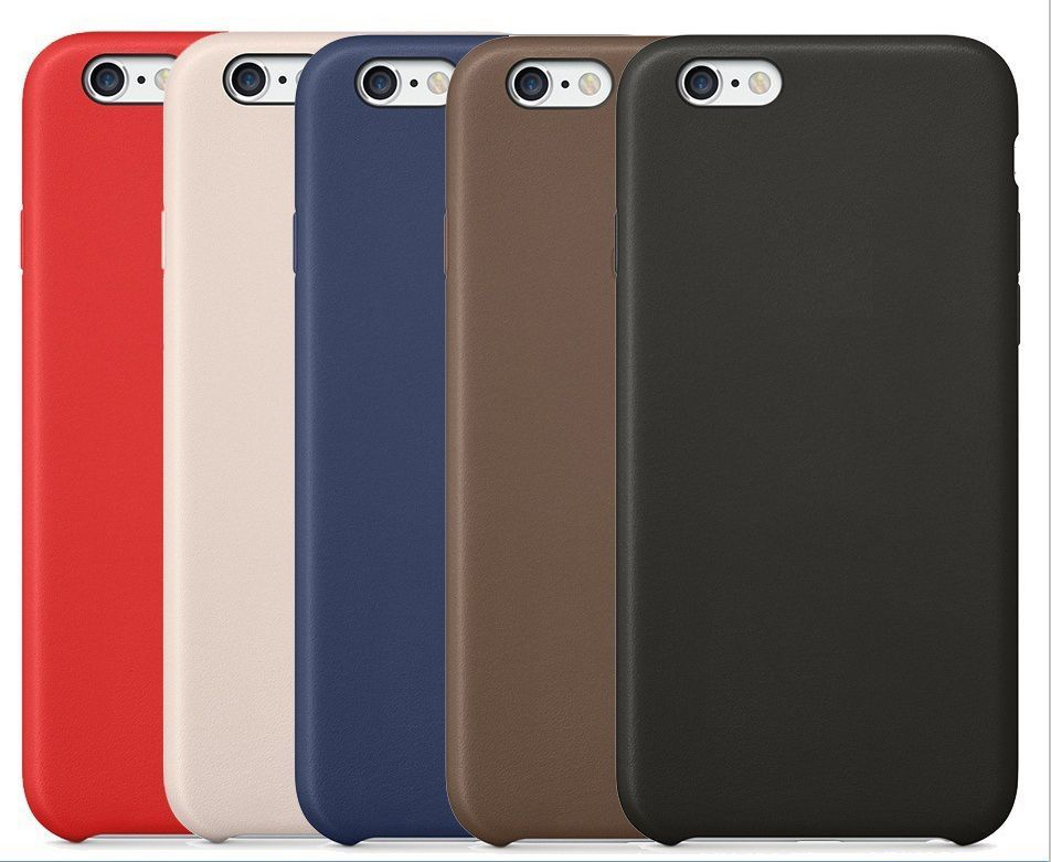 Luxury Ultra-thin With LOGO PU Leather Case cover for iPhone 6 4.7 / 5.5 case Original Copy Back Cover Official Style(China (Mainland))