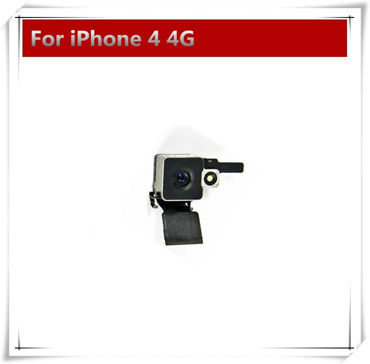 50pcs/lot Back Camera For iPhone 4 4g Replacement parts Rear Camera lens with Flex Cable NEW Free Shipping(China (Mainland))