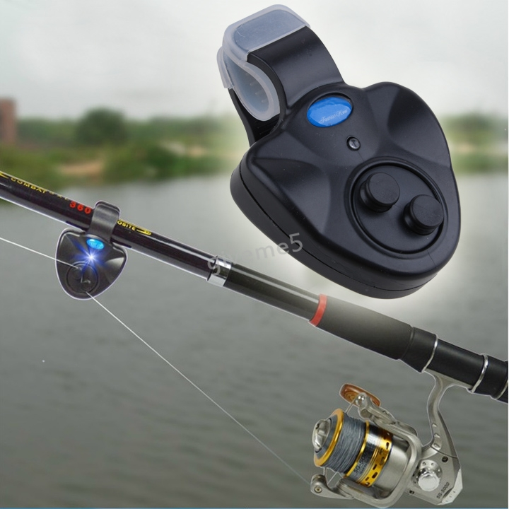Lowest Price !New Outdoor LED Clip Light Fishing Rod Electronic Bite Alarm Fish Ringer Battery b7(China (Mainland))