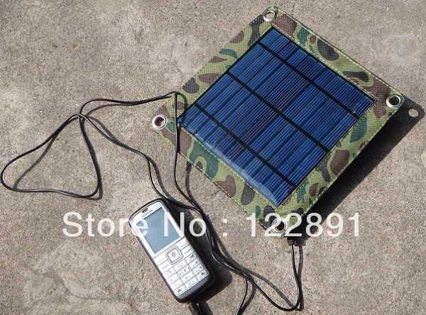 3W Portable solar charger for Mobile Phones/PSP/PDA Solar Power Station+USB Output+High Quality Poly Solar Panel+Free Shipping(China (Mainland))