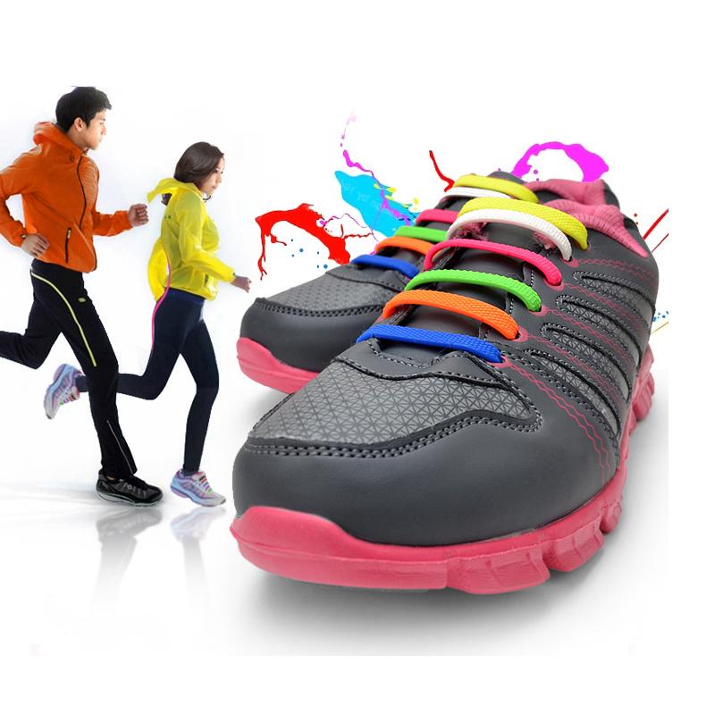 Гаджет  Outdoor Easy Tie Elastic Sneaker Shoelaces Silicone Rubber Shoelace for Adult Children 16Pcs/Set None Обувь