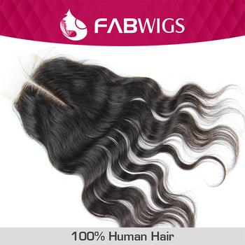 "Brazilian Lace Closure Body Wave Virgin Brazilian Human Hair Closure Bleached Knots 3.5x4"" Free Part or Middle Part  Closure"
