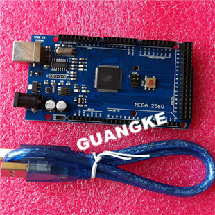 Free shiping !! Mega 2560 R3 Mega2560 ATmega2560-16AU Board + USB Cable compatible arduino good quality low price  -  GUANGKE ELECTRONICS CO.,LIMITED store