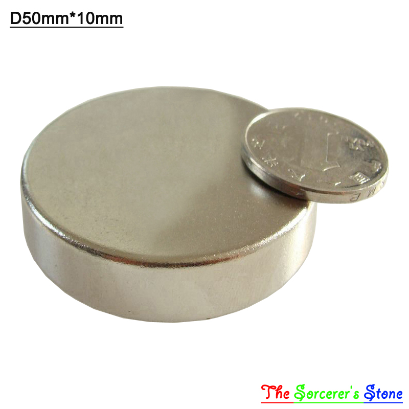 2pcs Super Strong Dia50x10mm  Rare Earth Neodymium Disc Magnet  N52 Free Shipping<br><br>Aliexpress
