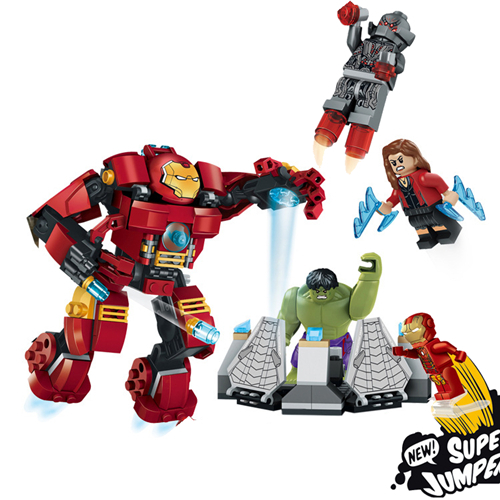 LELE 79081 Building Blocks Super Heroes Avengers 2 Of Ultron Minifigures The Hulk Buster Smash Bricks