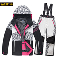 WHS 2016 New girls snow suits kid ski jacket teenage windproof coat girl skiing jacket in