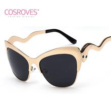 Women's Men's Cat Eye Sunglasses Retro Shade Glasses Rhinestone Eye Snake Legs Elegant Colorful Eyewear UV400 SG15034