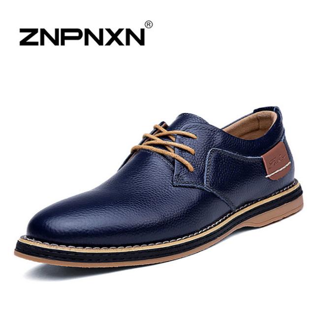 [ Znpnxnshoes ] новое 2015 мужчины туфли зашнуровать черный оксфорд обувь для мужчин ...