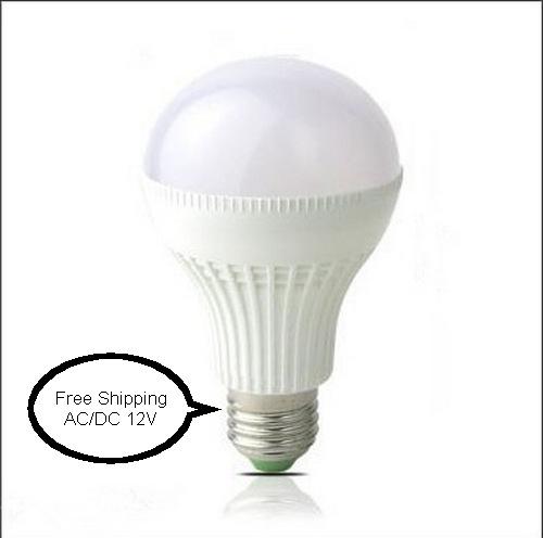 Free shipping New DC 12V E27 led 3W 5W 7W 9w 12w 15w Solar energy ball steep light white/warm DC12V solar lights for garden(China (Mainland))