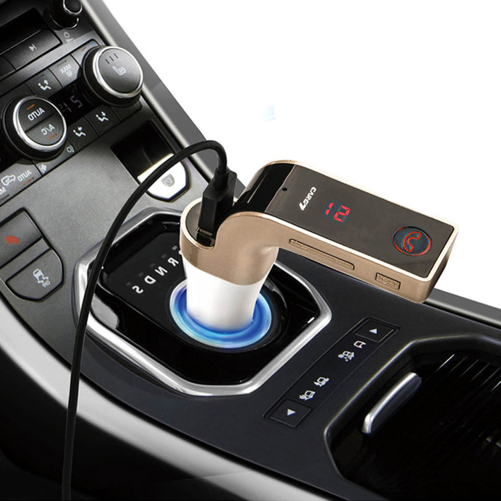 G7 Auto Car Bluetooth FM Transmitter With TF/USB flash drives MP3 WMA Music Player SD and USB Charger Features High Quality(China (Mainland))