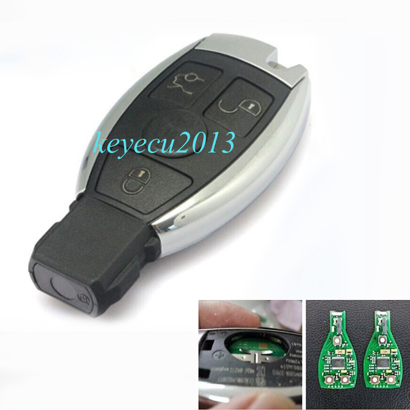 High Quality Keyless Entry OEM Smart 3 Button Remote key With Infrared for Mercedes Benz 433Mhz 2006-2010<br><br>Aliexpress
