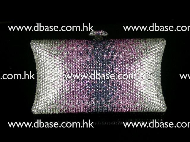 701 Crystal White/Pink/Purple in gradual change effect Evening Bridal Party Night Metal purse bag clutch box IN FREE SHIPMENT<br><br>Aliexpress