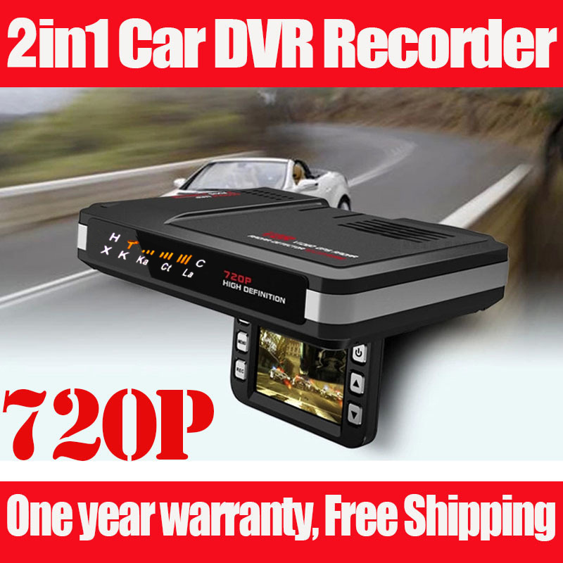 New DVR car Radar Detector video recorder STR8500 2in1 English&Russian(China (Mainland))
