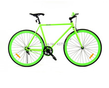 Fluorescence luminous racing 700 c brake dead flying bicycle Live flying bicycle cycling fashion road cycling WG7005 -s(China (Mainland))