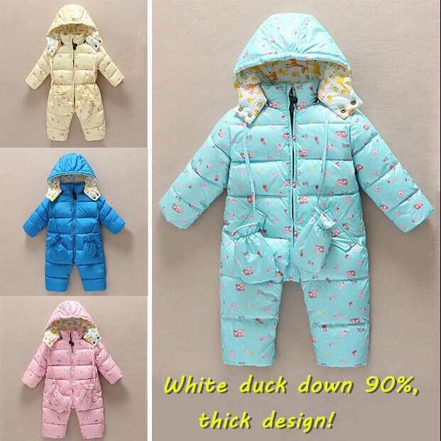 New 2015 Winter coveralls children clothing infant Down rompers baby girls thick down jacket jumpsuits newborn baby boy clothes<br><br>Aliexpress