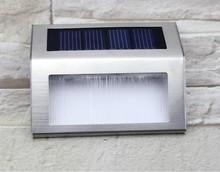 Энергосберегающий на открытом воздухе лестница лампа 2 шт. из светодиодов IP44 лестницы лёгкие нержавеющая сталь солнечный шаг лёгкие