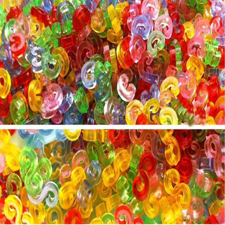 5000 pcs / Lot Hot mix color plastic DIY loom kits S clips for loom bands DIY bracelet, loom s / c clips bands  Wholesale<br><br>Aliexpress