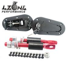 LZONE RACING-D1 JDM Plus Flush Hood Latch and Pin Kit Racing Latch Locks Locking Hood Kit JR-BPK-D21(China (Mainland))