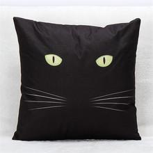 Black cat decorative throw pillowcase cushion cover