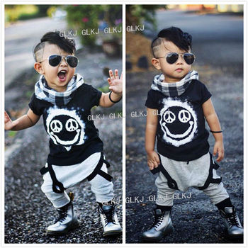 2016 new children's clothing Track suit brand boys cotton summer boys clothing sets kids clothes