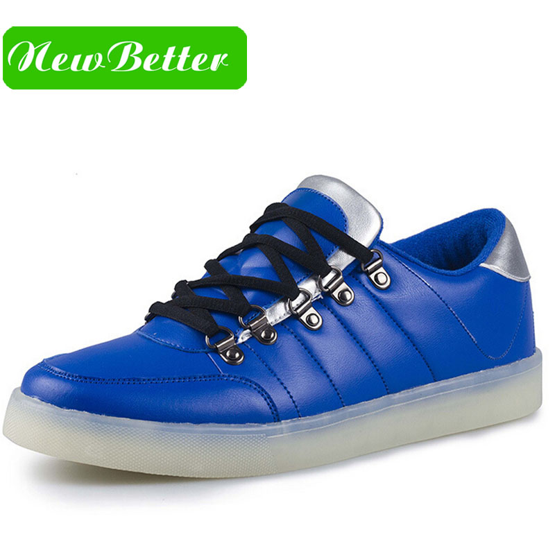men shoes In the spring of the new low light colorful shoes led USB shoes Europe charging light shoes trade