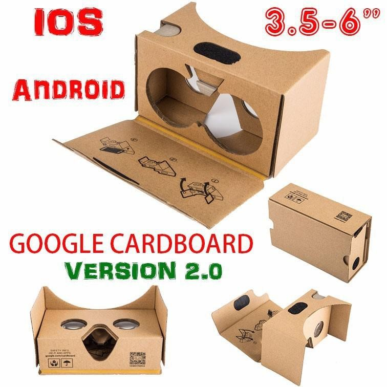 "2015 new Google cardboard 2 2.0 Virtual Reality VR 3D glasses toolkit Rift Oculus for 3.5-6"" Smart phone"