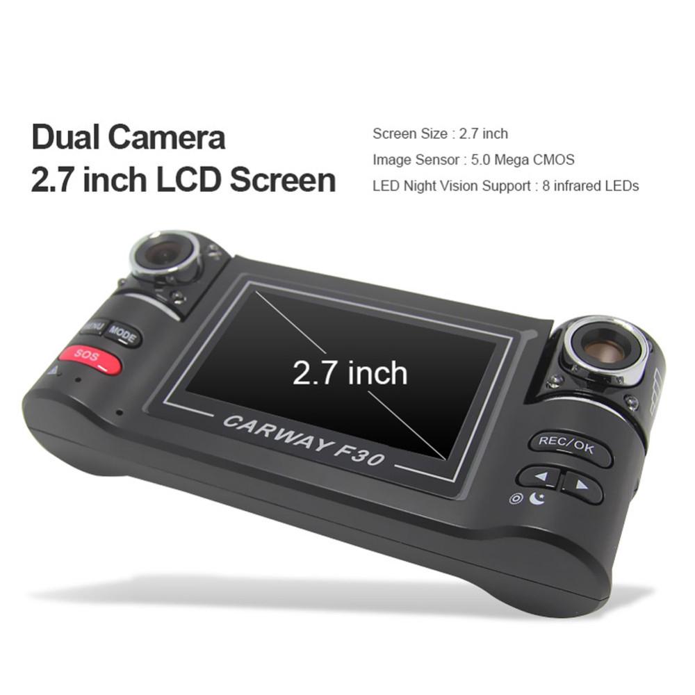"Car Camera Dual Lens F30 2.7"" Car Camera Night Vision HD Car DVR Vehicle Driving Camcorder Video Recorder With Original Package"