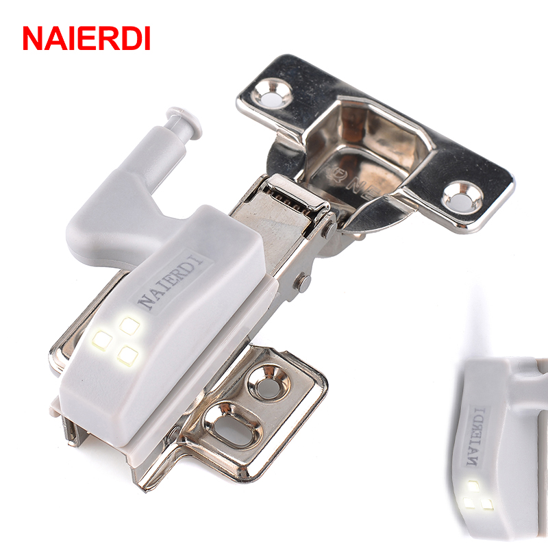 10Pcs NAIERDI Universal Kitchen Bedroom Living room Cabinet Cupboard Closet Wardrobe 0.25W Inner Hinge LED Sensor Light System(China (Mainland))