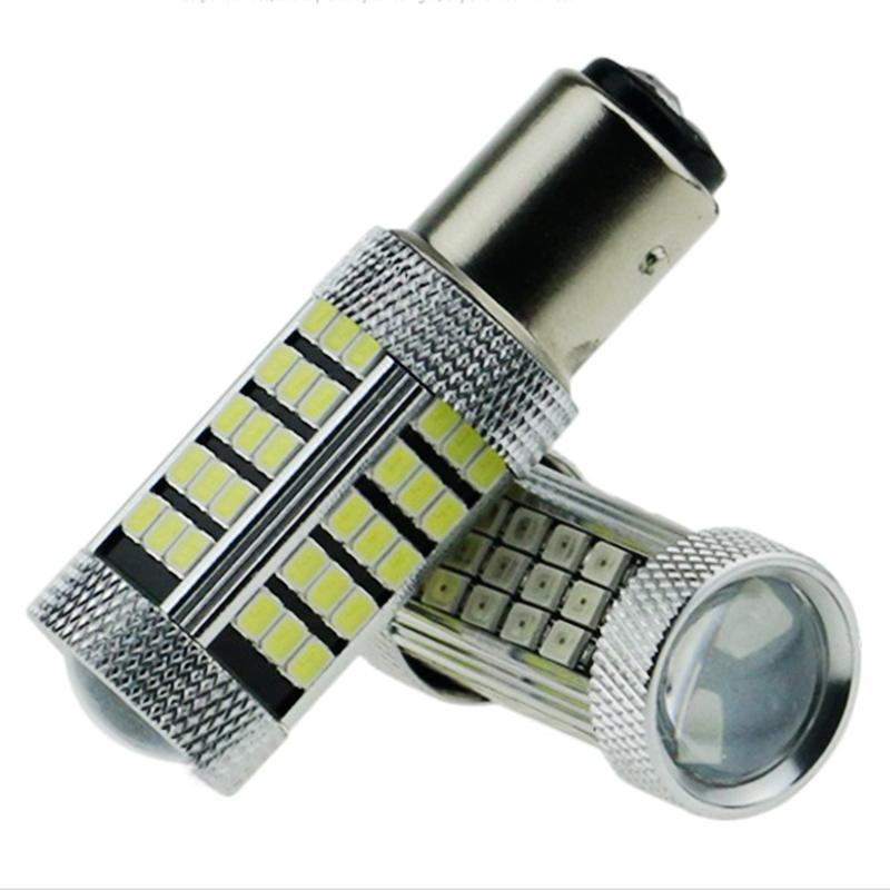 2pcs P21/5W 1157 BAY15D P21/4W Cree 2835 SMD LED car rear light stop bulb 21/5W auto brake lights back fog lamp 12V red white 2X(China (Mainland))