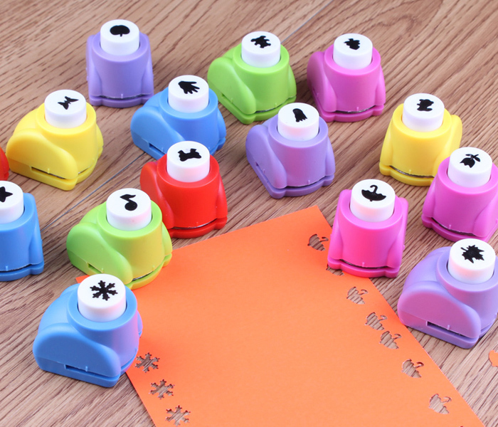 8 Style Mini Printing Paper Hand Shaper Scrapbook Tags Cards Craft DIY Punch Cutter Tool Free Shipping(China (Mainland))