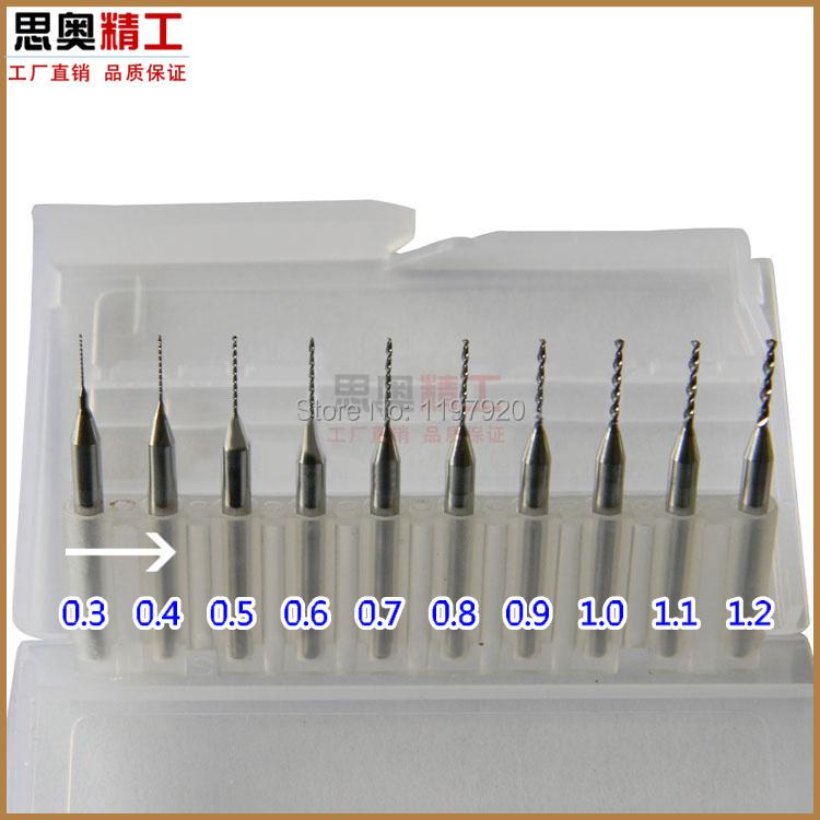 10 x Carbide Micro Drills Bits 0.3-1.2mm Pcb Cnc Jewelry Rotary Tool<br><br>Aliexpress