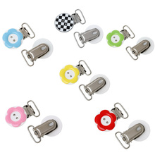 10PCS/5PCS Creative Mixed Baby Toddler Pacifier Clips Wood Metal Pacifier Holders Cute Infant Soother Clasps Accessories(China (Mainland))