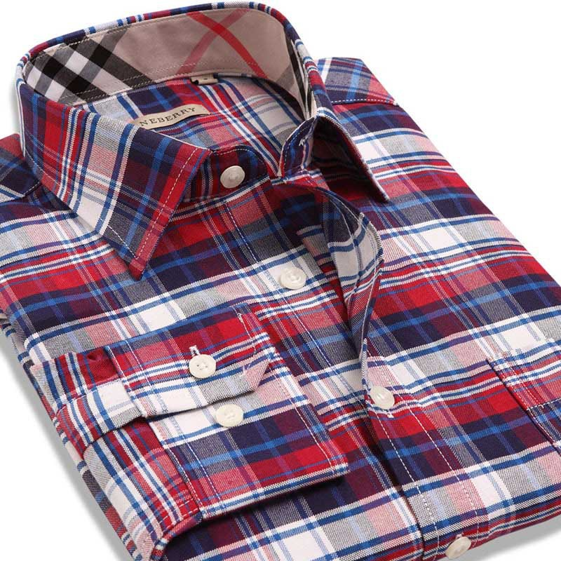Without Ironing Top Quality Spring Men's Plaid Striped Shirts Fashion Business Shirt Men Camisas Masculina Social chemise hombre(China (Mainland))