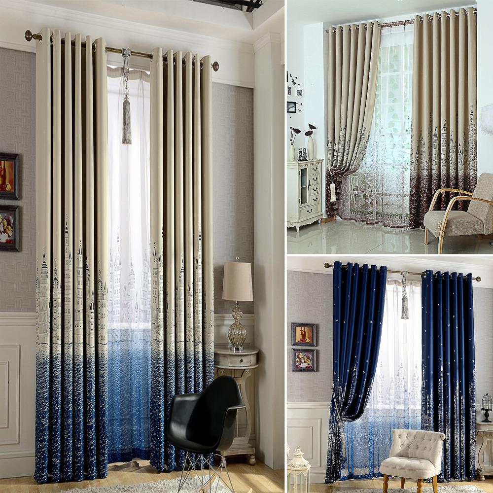 excellent chteau gaze rideau fentre rideaux pour les enfants garons filles literie chambre salon. Black Bedroom Furniture Sets. Home Design Ideas
