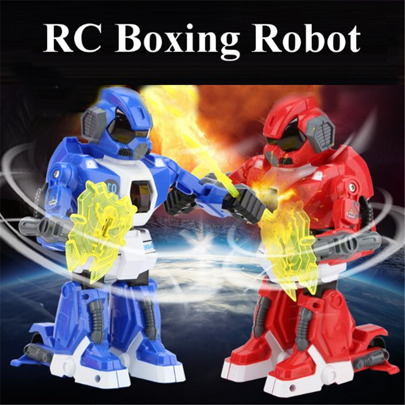 1PCS 2.4G New Remote Control Robot Intelligent RC Balanced Robot Boxing Battle Robot with Light and Music Electric Toy Gift(China (Mainland))