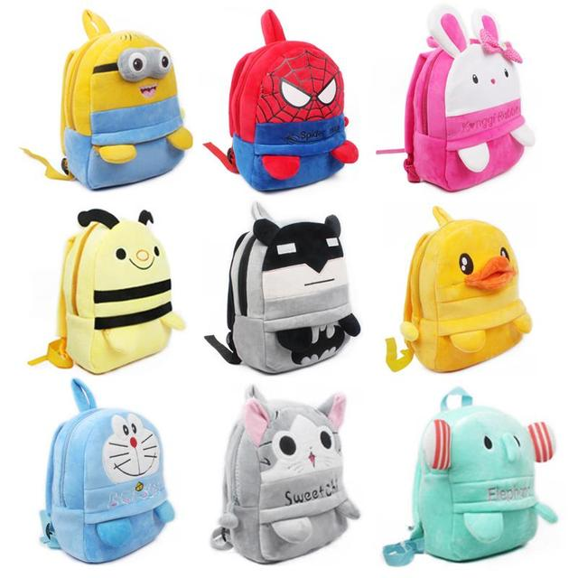 Среднего размера плюшевые рюкзак withfoot детская школа плюшевые конфеты сумки милые ...