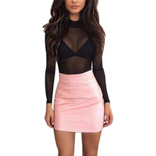 Buy snowshine #1501 Women Sexy Bandge Leather High Waist Pencil Bodycon Hip Short Mini Skirt free for $5.83 in AliExpress store