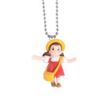 Menina dos desenhos animados Pingente Colar 6 Estilos Bonito Irmã Mei Colar PVC Colares Jóias Presente Para As Crianças Criança Ingênua Irmã(China)
