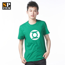 Free Shipping The Justice League Green Lantern Symbol Pattern Superhero T-Shirt 100% Cotton Green  10 Colors