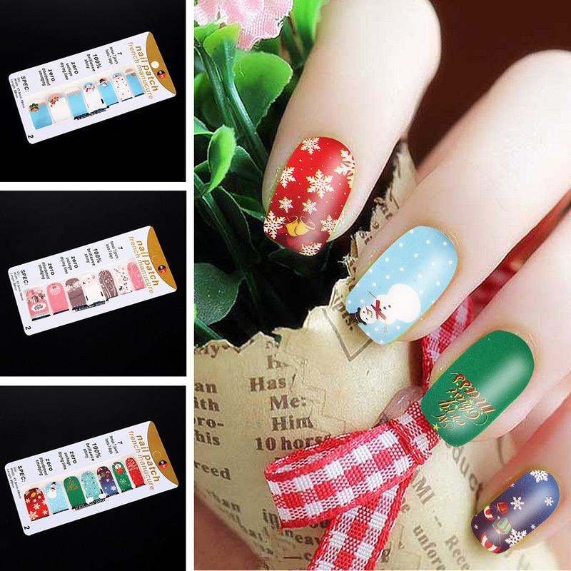 New Arrivals Colorful 3D Nail Art Stickers Sparkle Christmas Nail Art Stickers DIY Decoration Free Shipping(China (Mainland))