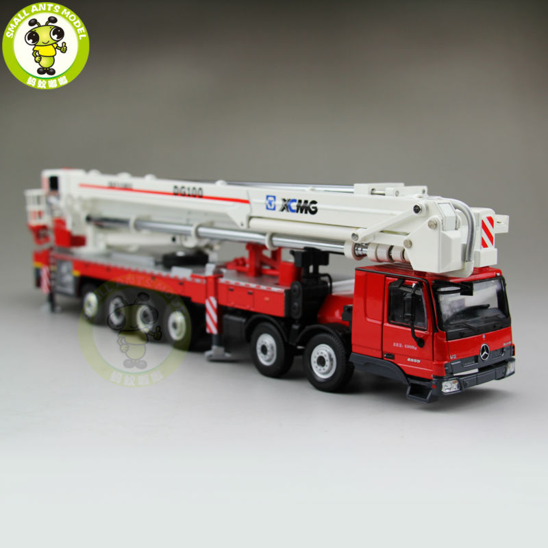 1/50 China XCMG Benz Actros MP3 DG100 Aerial Platform Fire Truck Diecast model(China (Mainland))