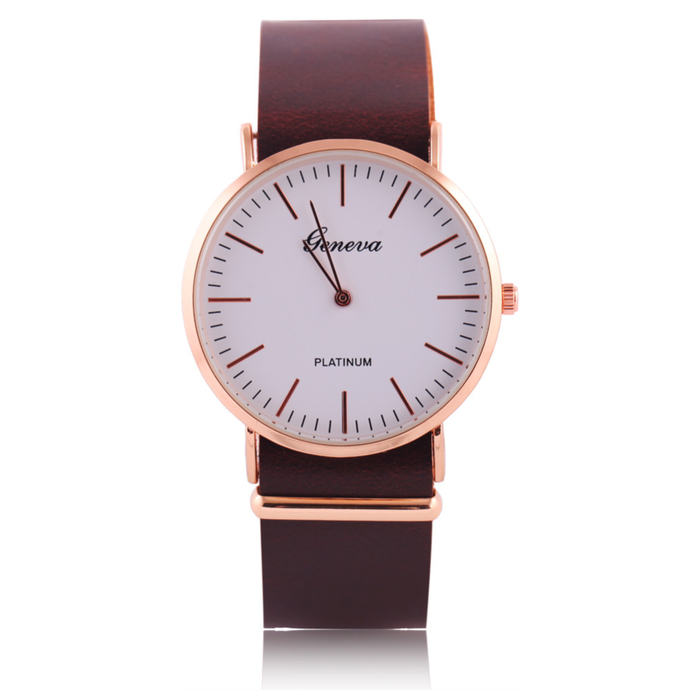 2015 Hot Sale Clock Leather Strap Mens Sports Watches Geneva Military Watches Analog Quartz Watch Relogio Masculino Army Watch<br><br>Aliexpress