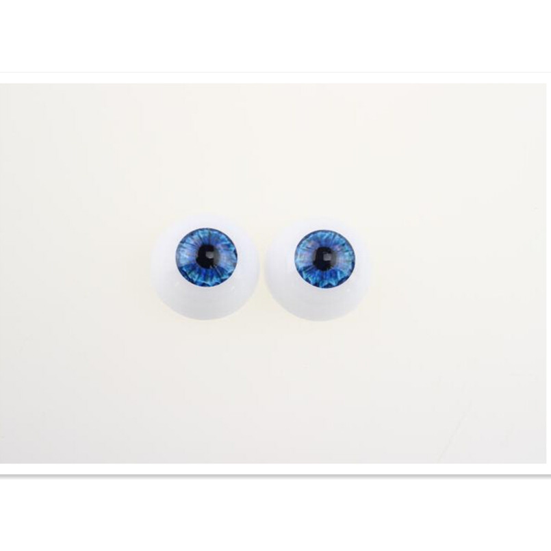 2016 New Arrival 20 mm Round Acrylic Doll Eyes Eyeballs 30 Pairs/Lot, 6 Color Plastic Doll Eyes for Reborn Doll Kit Accessories(China (Mainland))
